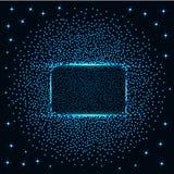 Abstrakt baner med blåa ljus Royaltyfri Fotografi