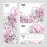 abstrakt banerdesign Arkivbilder