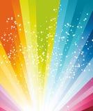 abstrakt banerfödelsedagregnbåge Royaltyfri Bild