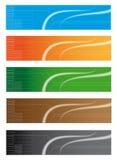 abstrakt banertitelradrengöringsduk stock illustrationer
