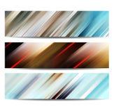 Abstrakt baneruppsättning Arkivfoto