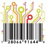 abstrakt barcodevektor stock illustrationer