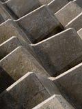 Abstrakt barriär för betong Royaltyfri Bild
