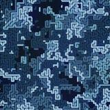 Abstrakt barwiący kamuflażu wzór Futurystyczny składu tło Labityntu pojęcie świadczenia 3 d ilustracji