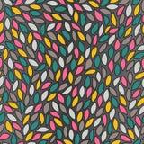 abstrakt barwiący liść wzór bezszwowy Fotografia Stock