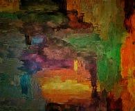 Abstrakt barwiący rocznika grunge tło z rozmytymi chaotycznymi farb uderzeniami na textured brezentowym komputerze wytwarzał graf Zdjęcie Stock