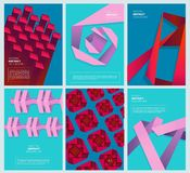 Abstrakt barwić pokrywy Geometria nowożytnych kształtów biznesowego projekta wektoru prosty barwiony abstrakcjonistyczny szablon royalty ilustracja