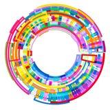 Abstrakt barwił promieniowego 3 d tło geometryczni kształty ilustracji