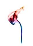abstrakt barwiąca oparu magia nad biel Zdjęcia Royalty Free