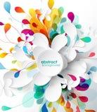 Abstrakt barwiący kwiatu tło z okręgami ilustracji