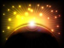 Abstrakt barwi oświetleniowego tło Zdjęcia Royalty Free