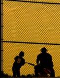 abstrakt basebollspelare Arkivbilder