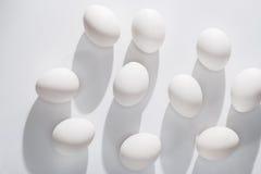Abstrakt begrepp Ägg och former Arkivbilder