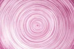 Abstrakt begrepp överlappar många lager av färgrikt rosa trä i linjen cirkelmodeller för textur eller bakgrund arkivbild