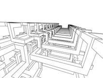 abstrakt begrepp 3d Arkivfoto