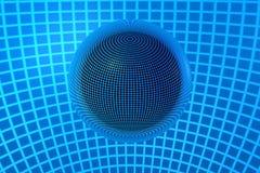 abstrakt begrepp 3D röra sig i spiral Arkivfoto