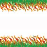 abstrakt begrepp aktiverat gräs stock illustrationer