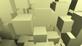 Abstrakt begrepp animerat ljus - gul bakgrund lager videofilmer