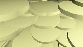 Abstrakt begrepp animerat ljus - gul bakgrund stock video
