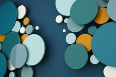Abstrakt begrepp av bakgrund för färgcirkel Royaltyfri Foto