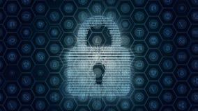 Abstrakt begrepp av crypto valutasäkerhet royaltyfri illustrationer