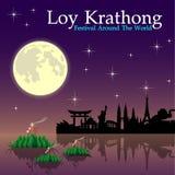 Abstrakt begrepp av den Loy-Krathong festivalen Fotografering för Bildbyråer
