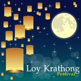 Abstrakt begrepp av den Loy-Krathong festivalen Royaltyfri Foto