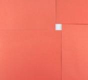 Abstrakt begrepp av det pappers- arket för röd fyrkant och vitutrymme Royaltyfria Foton