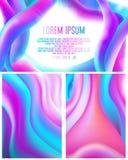Abstrakt begrepp av dynamiskt av vätskefärg stock illustrationer