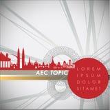 Abstrakt begrepp av ekonomisk gemenskap för ASEAN, AEC Royaltyfria Bilder