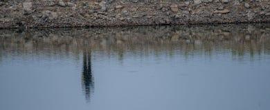 Abstrakt begrepp av en stenig flodstrand Royaltyfri Fotografi