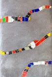 Abstrakt begrepp av färgrik sprucken mosaiktextur som bakgrund Arkivfoto