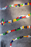 Abstrakt begrepp av färgrik sprucken mosaiktextur som bakgrund Royaltyfri Foto