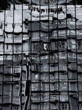 Abstrakt begrepp av glass reflexionsbyggnad Royaltyfria Foton
