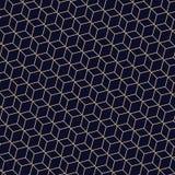 Abstrakt begrepp av guld- linjer polygonal geometrisk modell Ett sömlöst vektor illustrationer