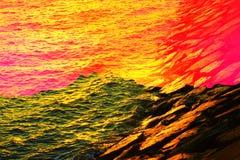Abstrakt begrepp av havet Royaltyfria Bilder