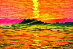 Abstrakt begrepp av havet Royaltyfri Fotografi