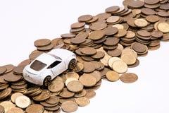 Abstrakt begrepp av kostnader för biläganderätt royaltyfri foto