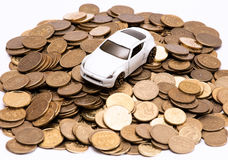 Abstrakt begrepp av kostnader för biläganderätt royaltyfri bild
