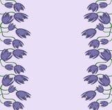 Abstrakt begrepp av lilor blommar med stammar Arkivbilder