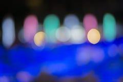 Abstrakt begrepp av ljus på natten Arkivfoton