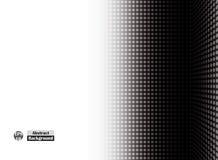 Abstrakt begrepp av pricken för sidohalvtonsvart av det högra tomma perspektivet 3d business dimensional presentation render shap Arkivbilder