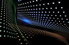 Abstrakt begrepp av raddan förde lampor Arkivbild