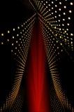 Abstrakt begrepp av raddan förde lampor och strålen arkivfoton