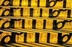 Abstrakt begrepp av skuggor Arkivfoton