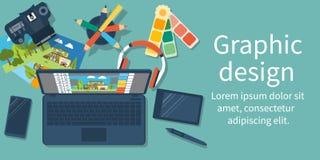 Abstrakt begrepp av utveckling av den grafiska designen vektor illustrationer