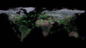 Abstrakt begrepp av världsnätverket, internet och det globala anslutningsbegreppet