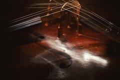 Abstrakt begrepp av violoncelldetaljer royaltyfria bilder