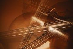 Abstrakt begrepp av violoncelldetaljer royaltyfri foto