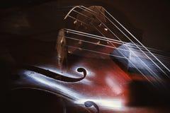Abstrakt begrepp av violoncelldetaljer royaltyfria foton